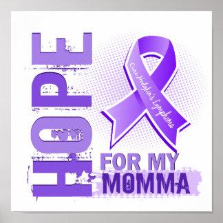 Esperanza de mi linfoma de Momma Hodgkins Poster