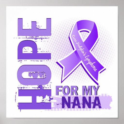 Esperanza de mi linfoma de Nana Hodgkins Posters