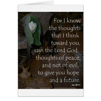 Esperanza del 29:11 de Jeremiah del futuro Tarjeta De Felicitación