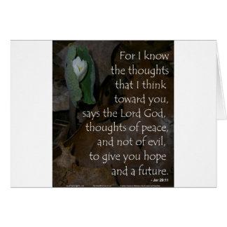 Esperanza del 29:11 de Jeremiah del futuro Felicitacion