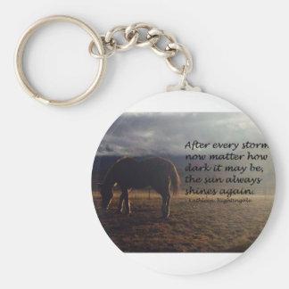 Esperanza del caballo llavero redondo tipo chapa