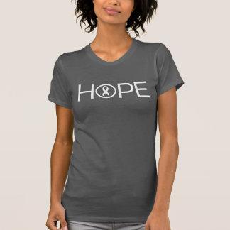 Esperanza del cáncer de pulmón camiseta