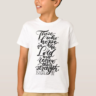 Esperanza en el señor Brush Script Camiseta