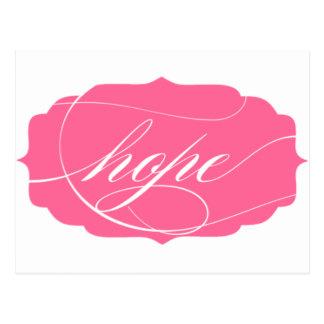Esperanza en rosa postal