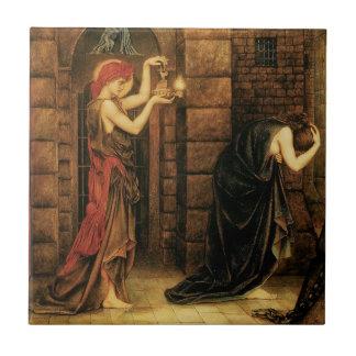 Esperanza en una prisión de la desesperación de azulejo cuadrado pequeño