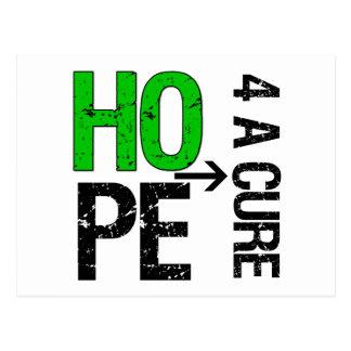 Esperanza hepática del cáncer de una curación tarjeta postal