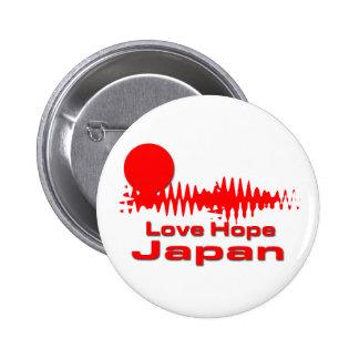 Esperanza Japón del amor Chapa Redonda 5 Cm