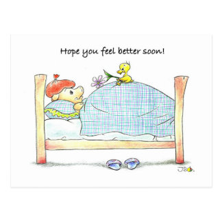 ¡Esperanza que usted siente mejor pronto! Postal