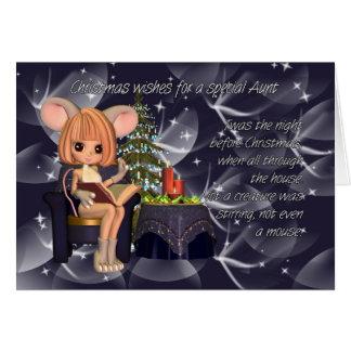 Esperanza usted tiene navidad mágico, tía tarjeta de felicitación