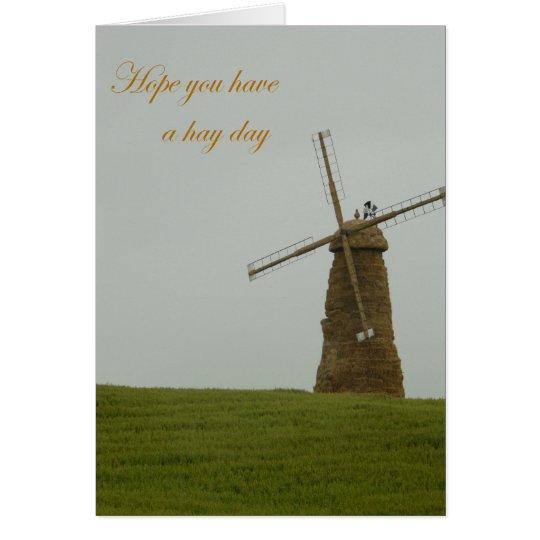 Esperanza usted tiene un día del heno tarjeta de felicitación