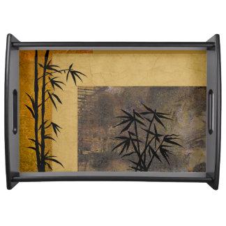 Esperanza y bambú bandejas