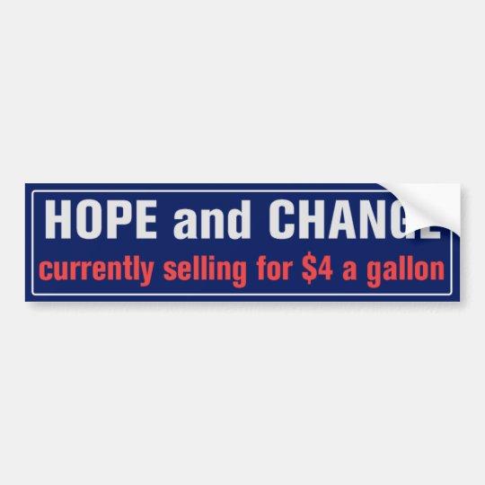 Esperanza y cambio para la pegatina para el pegatina para coche