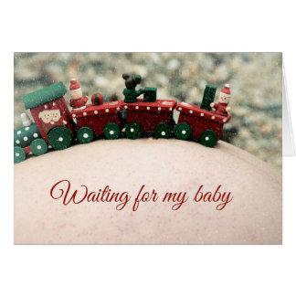 Esperar mi tarjeta de Navidad de maternidad del