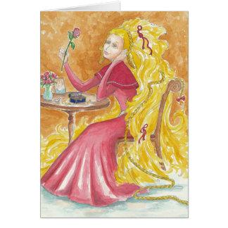 Esperas de Rapunzel Tarjeta Pequeña