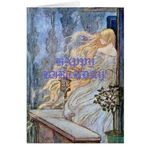 Esperas rubias de Rapunzel Tarjeta