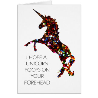 Espero impulsos de un unicornio en su tarjeta de