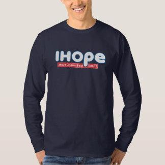 Espero la camiseta cristiana de la fe de la biblia