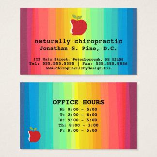 Espina dorsal Apple y Chiropractor de las horas de Tarjeta De Visita