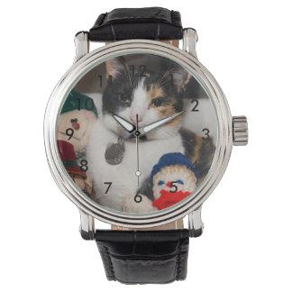 Espío un calicó reloj de pulsera