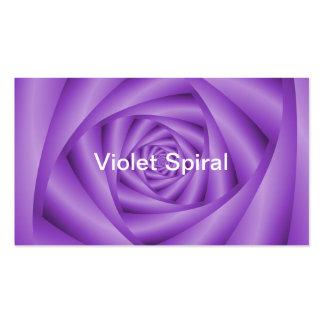 Espiral clásico de la violeta de la tarjeta de tarjetas de visita