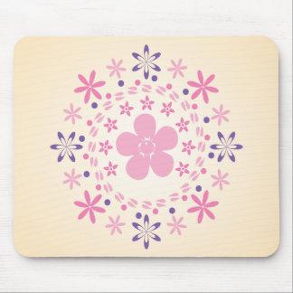 Espiral de la flor: Arte del vector: Mousepad Tapete De Ratón