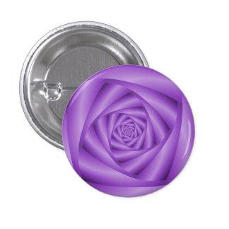 Espiral de la violeta del botón de Pinback