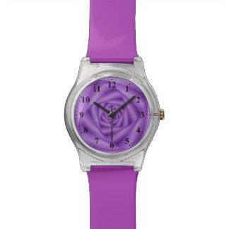 Espiral de la violeta del reloj