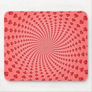 Espiral de los corazones: Ilustraciones del vector Alfombrillas De Raton