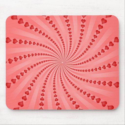 Espiral de los corazones: Ilustraciones del vector Alfombrillas De Ratones