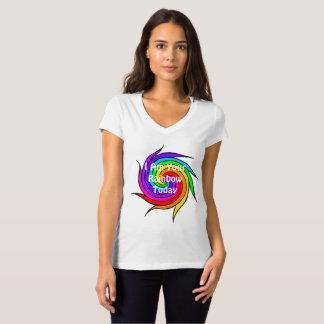 Espiral del arco iris soy su camiseta del arco