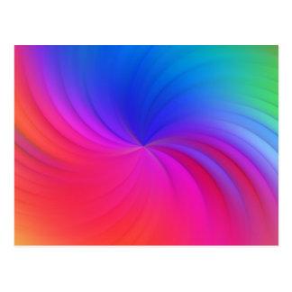 Espiral del arco iris postal