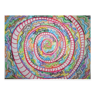 Espiral magenta postal