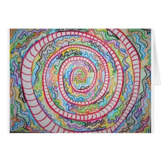 Espiral magenta tarjetón