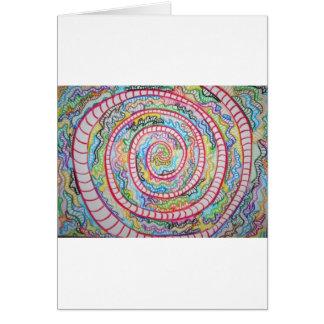 Espiral magenta tarjeta de felicitación