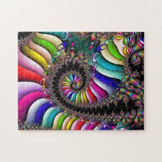 Espiral multicolor del fractal puzzle