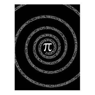 Espiral para la tipografía del pi en negro postal