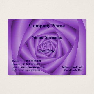 Espiral rechoncho de la violeta de la tarjeta de
