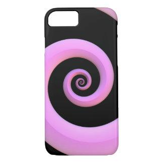 Espiral rosado/negro funda iPhone 7