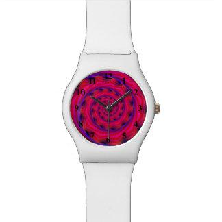 Espiral violeta del reloj de la explosión y azul