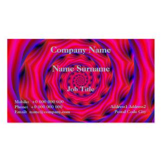 Espiral violeta y azul rojo tarjetas de negocios