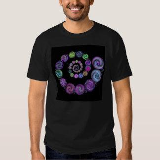 Espirales de Yin Yang Camisetas