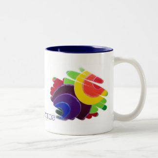 Espirales tropicales más la taza del té