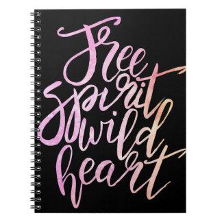 """""""Espíritu libre, cuaderno inspirado del corazón"""