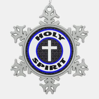 Espíritu Santo Adorno De Peltre Tipo Copo De Nieve