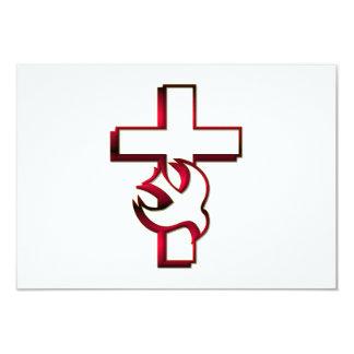 Espíritu Santo cruzado y/espíritu santo Invitación Personalizada