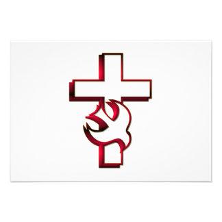 Espíritu Santo cruzado y espíritu santo Invitación Personalizada