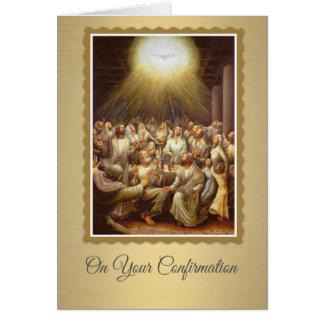 Espíritu Santo de la confirmación sobre los Tarjeta Pequeña