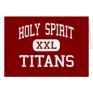Espíritu Santo - titanes - católico - Tuscaloosa Tarjeta De Felicitación
