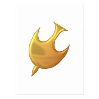 """Espíritu Santo """"tridimensional"""" de oro Postal"""