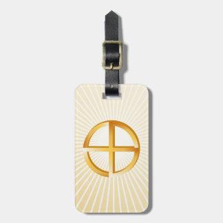 Espiritualidad nativa etiqueta para maletas
